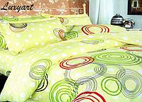 Комплект постельного белья Цветные круги, хлопок, евростандарт
