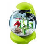 Аквариум Tetra Cascade Globe для петушка и золотой рыбки зеленый 6,8 литров