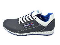 Подростковые кросовки с натуральной кожи Cross 39 Blue р. 37 38
