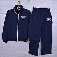 """Спортивный костюм подростковый """"BENTLEY"""" для мальчиков.116-140 см. Темно-синий. Оптом, фото 1"""