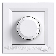 Диммер, светорегулятор поворотный 315 Вт Schneider Asfora белый
