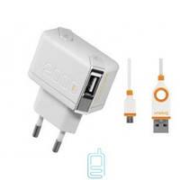 Сетевое зарядное устройство Unplug 2 USB с micro USB кабелем (2 А) (TC2000MIC) Код:7370