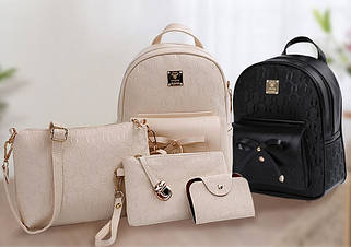 Рюкзаки сумки клатчи комплекты