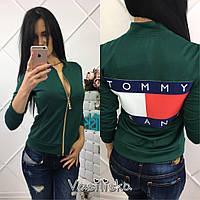Бомбер женский модный трикотажный разные цвета SSV99, фото 1