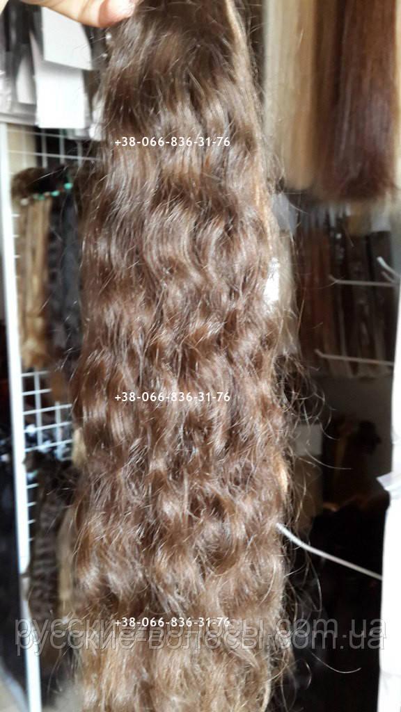 Наращивание натуральных волнистых волос