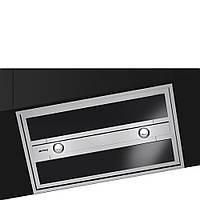Встраиваемая вытяжка Smeg KSEG90VXNE-2 нержавеющая сталь, черное стекло