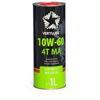 Verylube Oil 10W-60 4T MA Синтетическое масло для 4х тактных двигателей мототехники