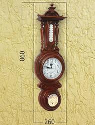 Настенные часы с термометром и барометром 1WC-4-86x26x10
