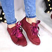 Кроссовки криперы под Puma Rihanna Suede бордо атлас 3471 , спортивная обувь