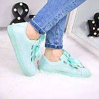 Кроссовки криперы под Puma Rihanna Suede мята атлас 3472 , спортивная обувь