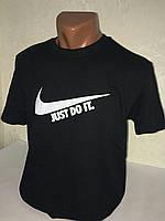 """Чёрные мужская футболка 100% хлопок """"Nike"""" с логотипом  ФМ-11"""