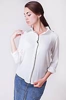 Стильная женская блузка прямого кроя с удлиненной спинкой