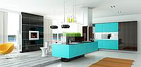 Кухня RODA АМСТЕРДАМ: фасады МДФ-окрашенные имеют объемное 3D-фрезерование по всей плоскости