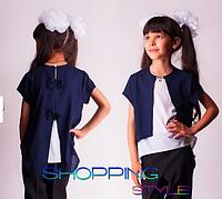 Красивая блуза для девочки из шифона