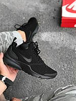 Кроссовки Nike Presto Fly 'Triple Black'. Живое фото. Топ качество! (аир престо, эир престо)