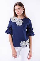 Блузка женская с оригинальными рукавами