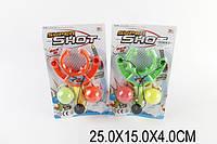 Рогатка с шариками 0072 1521690 240шт2 2 цвета, на планшетке 25154см