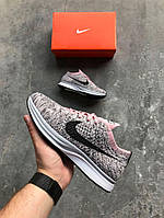 "Кроссовки Nike Flyknit Racer Light Violet & Dark Grey ""Macaroon"". Живое фото (Реплика ААА+)"