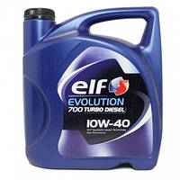 Полусинтетическое моторное масло Elf evolution 700 turbo diesel 10w-40 5L, фото 1