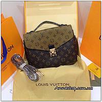 Сумка Louis Vuitton Pochette Metiz White Monogram новая расцветка, Люкс копия