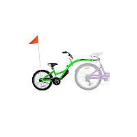 Велосипед прицеп WeeRide® Co-Pilot. От 4 до 10 лет, рост более 120 см, вес до 45 кг, салатовый.
