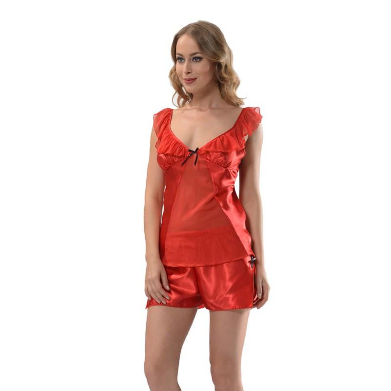 Шёлковая женская пижама с шортами Ahu — купить недорого в Харькове в ... eabb70b9c77d7