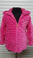 Демисезонное меховое пальто для девочек,Размер 98-128см,Фирма GLASS BEAR,Венгрия