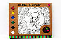 Фарби художні для дитячої творочості, подані у наборах: Розпис по полотну Ведмедик Misha 2020 см,57514