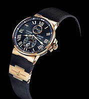 Классические наручные мужские часы ulysse nardin maxi marine black 10  (копия)