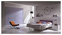 Модульный сиреневый шкаф в спальню