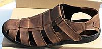 Босоножки мужские великаны кожаные на липучке, кожаная обувь мужская 46-50 от производителя модель ВС51-1