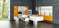 Кухня RODA БИМИНИ: фасады МДФ-окрашенные в любой цвет, имеют объемное 3D-фрезерование по всей плоскости