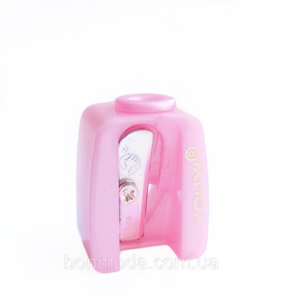 Точилка косметическая одинарная розовая
