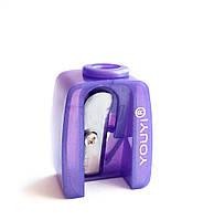 Точилка косметическая одинарная фиолетовая