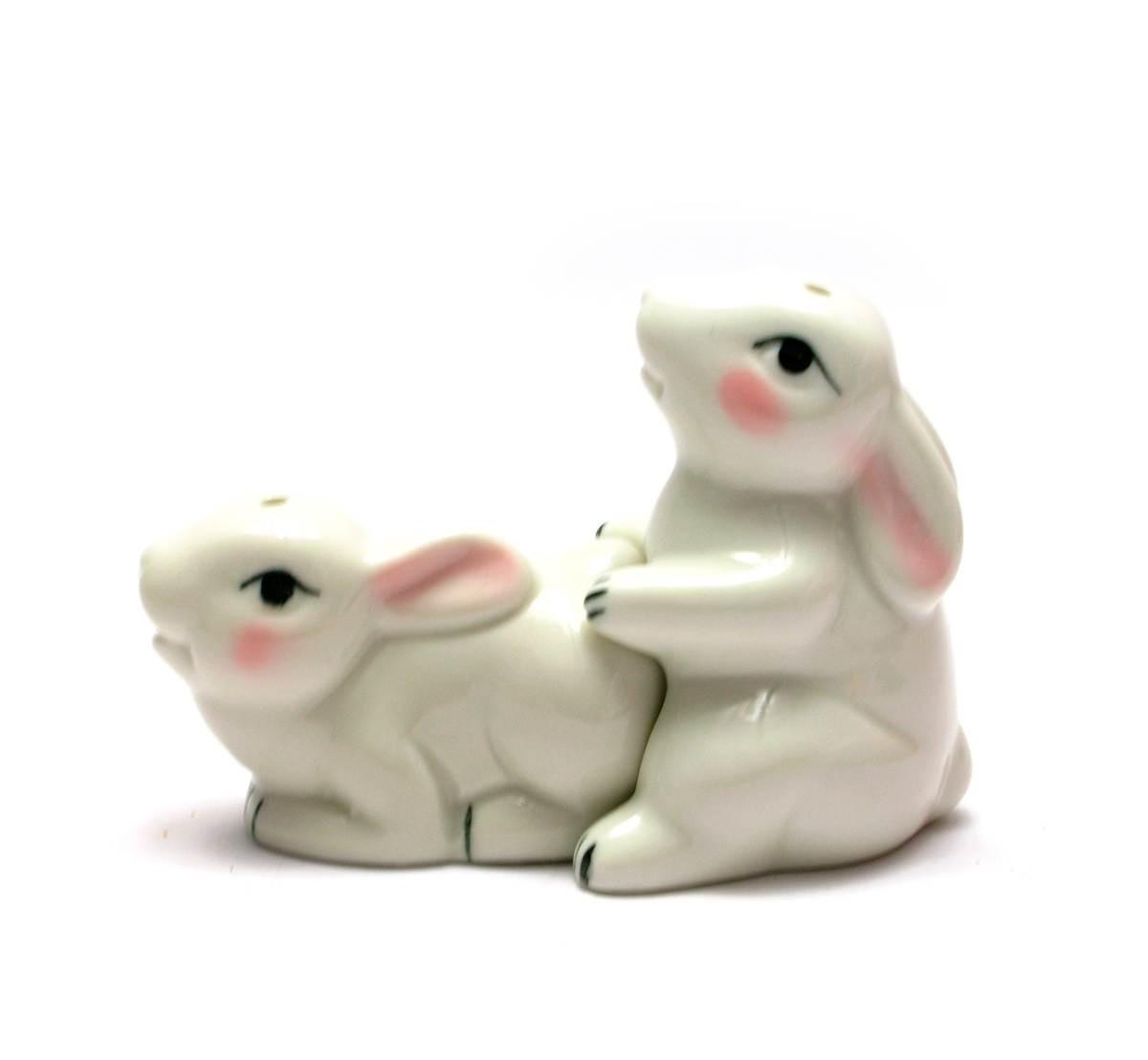 """Солонка с перечницей """"Кролики"""" (10х7,5х5,5 см)"""