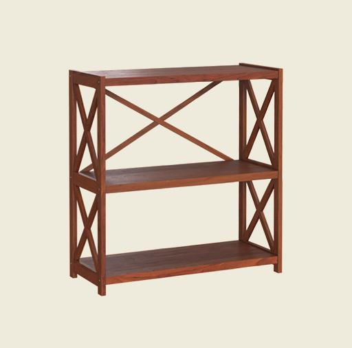 Трехъярусная деревянная этажерка Е-23, производитель фабрика Скиф