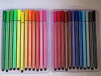 Фломастеры цветные 24 шт/уп. №108-24  в пластиковой коробке