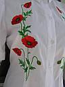 """Вышитая блуза женская """"Маки"""" с коротким рукавом , фото 2"""