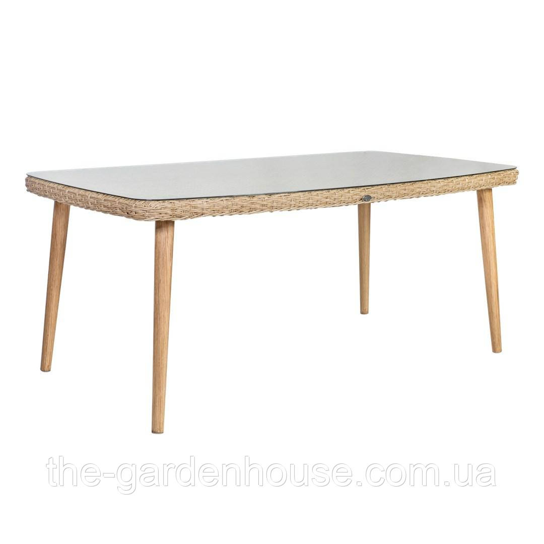 Обеденный стол из искусственного ротанга Retro 180x100 см