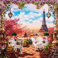 Набор для вышивки бисером Весна в Париже  FLF-09530x30