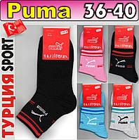 Женские носки демисезонные Puma 36-40р. ассорти   NJD-565