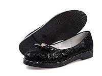 Подростковые туфли оптом. Туфли для девочек от фирмы Yalike 052-3 Black (8 пар, 30-37)