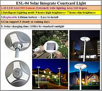 Светильник ESL-04, 10W, ландшафтный, на солнечных батареях