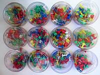 Гвоздики канцелярские (кнопки) 12кор/уп цветные