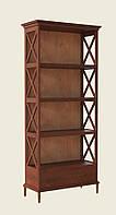 Четырехъярусная деревянная этажерка Е-36 с задней стенкой, производитель фабрика Скиф