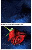 """Вышивка крестиком с 3д рисунком """"Роза красная"""""""