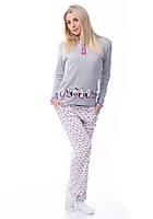 Теплая женская пижама штаны и кофта