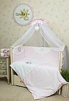 Комплект детского постельного белья для новорожденных Мотылек