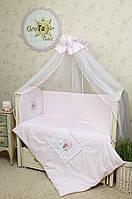 Набор постельного белья в кроватку для новорожденных Мишка