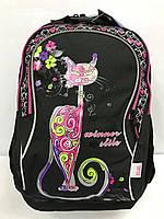 Рюкзак Winner stile 244 черно-розовый школьный для девочек 34см х 40см х 15см
